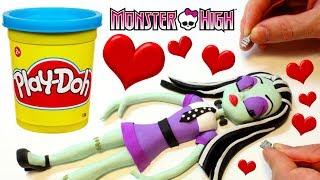 FRANKIE STEIN Monster High doll cartoon 💕 Superhero Play Doh Stop motion