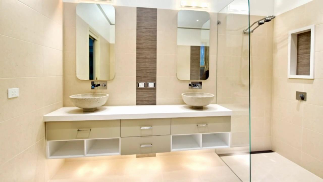 Rg dise o de interiores y acabados ba os modernos youtube Diseno de interiores de banos modernos