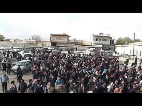 يبرود || قرية رأس العين : تشيع الشهيد نادر رومية 20-11-2012
