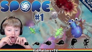 SPORE! Creating life, and it grew a small brain! | Spore part 1 [KM+Gaming S01E41]