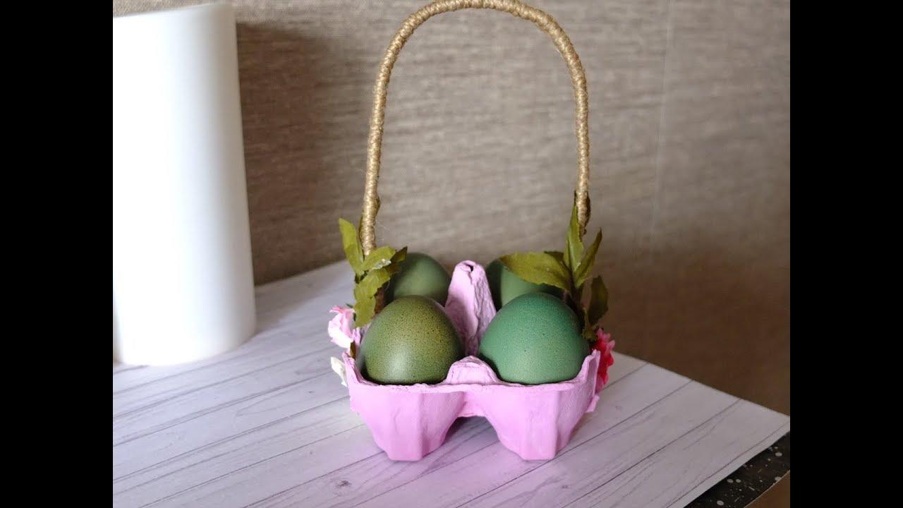 Корзинка для пасхальных яиц просто и быстро/пасхальный ...