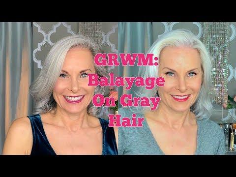 GRWM: Balayage On Gray Hair