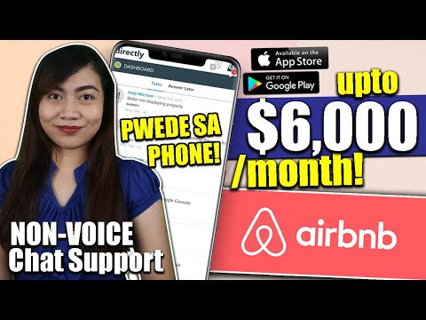 EARN UPTO $6000/month As An Airbnb Expert | NONVOICE Chat Support | Directly.com