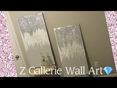 DIY Z GALLERIE INSPIRED PAINTING | UNDER $25| HOME DECORE (NARD & NISHA)