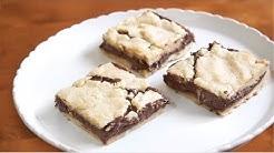 4 ingredient Nutella Cake Bars | SweetTreats