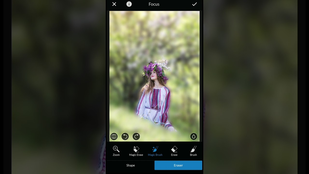 How to Blur background using LightX Photo Editor For Android