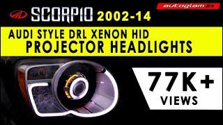 AGMS701 - Mahindra SCORPIO, AUDI Style Headlight with AES Projector Kit & HID,by AUTOGLAM.IN