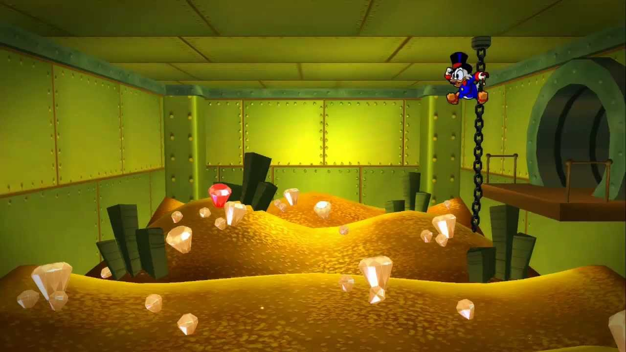 Swimming Pool Full Of Money : Ducktales remastered swimming in a full money bin