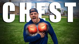 My Intense Chest Workout At The Park | Day 11