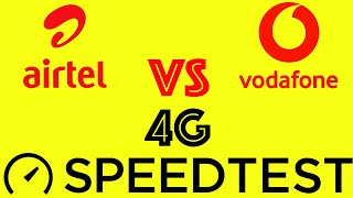 Airtel 4G Vs Vodafone 4G Speed test on different locations by Mathur Tech