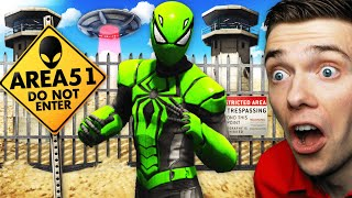 Finding ALIEN SPIDER-MAN In AREA 51 In GTA 5 (Secret)