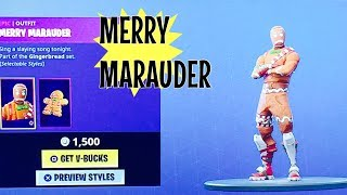 FORTNITE MERRY MARAUDER - GINGER GUNNER CHRISTMAS SKINS!