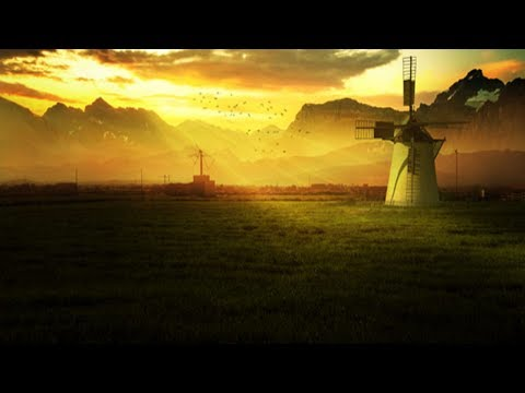 Photoshop Tutorial : How to Create a Sunrise Landscape effect in Photoshop : photo manipulation