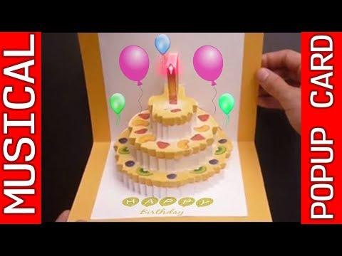Amazing 3D POP UP MUSICAL Birthday Card