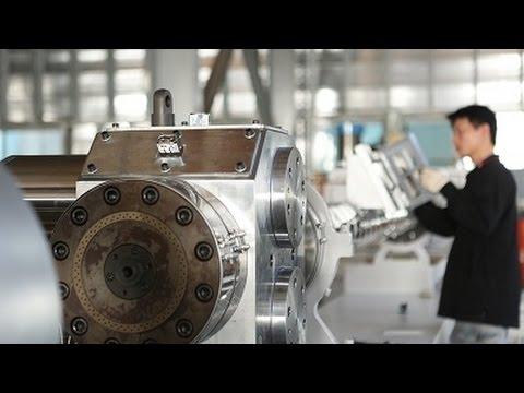 臺灣塑膠回收再生機 - YouTube