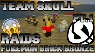 TEAM SKULL INVADES POKEMON BRICK BRONZE PART 1 *SKIT*