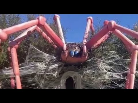Kim Kardashian Turns Her House Into A Giant Spider (Official)