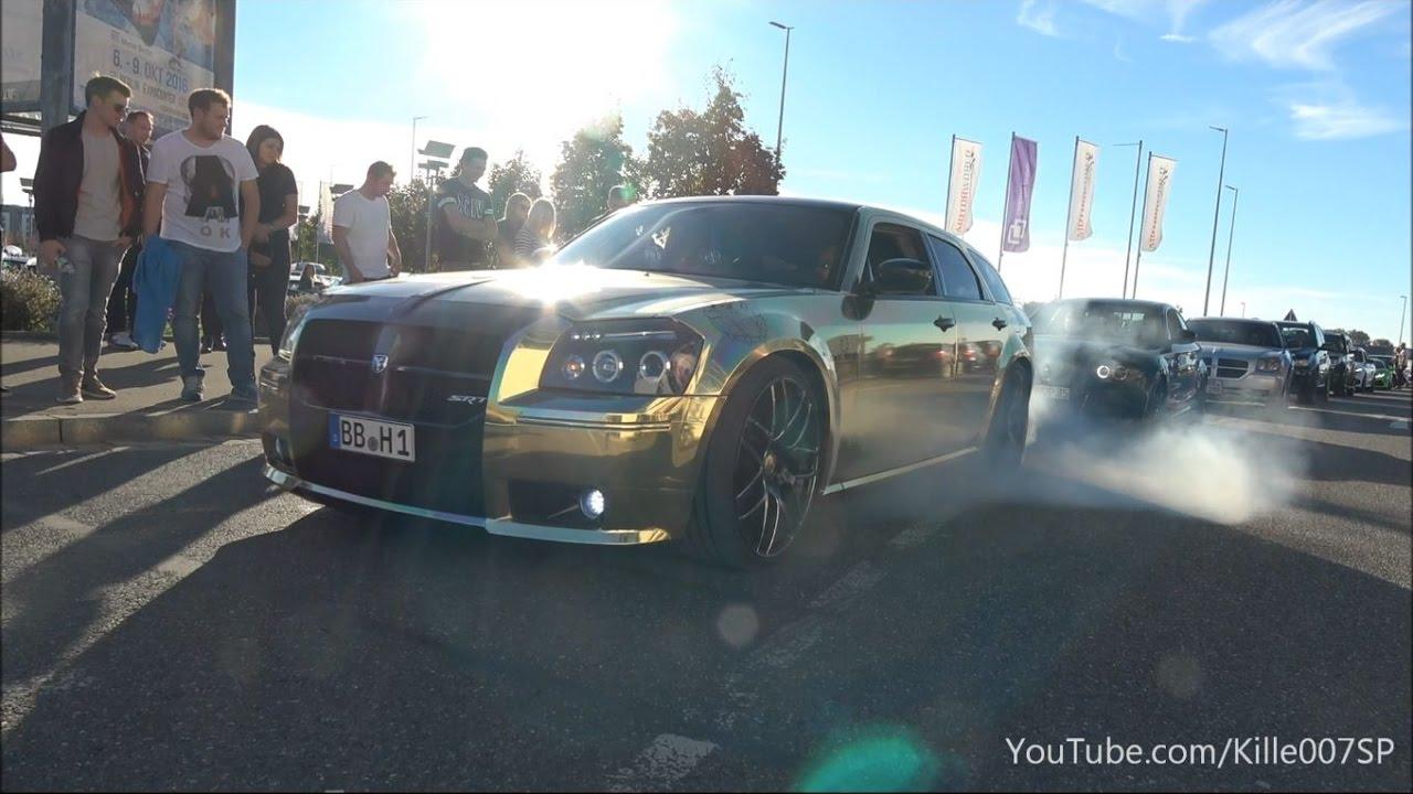 Chrom Gold Dodge Magnum Srt8 Burnouts Sounds 1080p Youtube