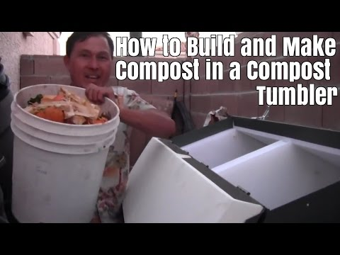 How to Build and Make Compost in a Compost Tumbler