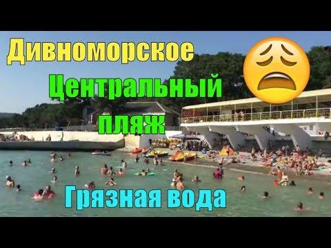 Дивноморское центральный пляж   Очень грязное черное море