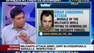 Jammu and Kashmir: Hizbul attacks Srinagar, 8 jawans killed -- Part 1