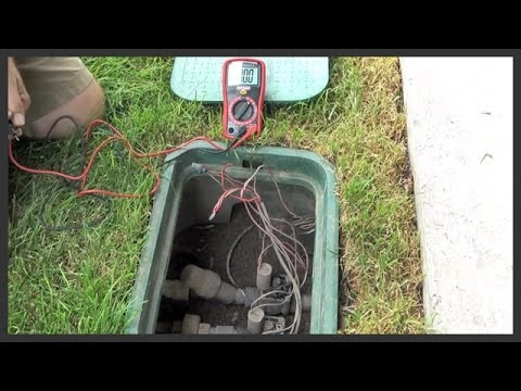 Troubleshooting Testing Power To A Sprinkler Valve Youtube
