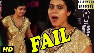 omg kajols fail compilation at 21st annual life ok screen awards 2015 red carpet