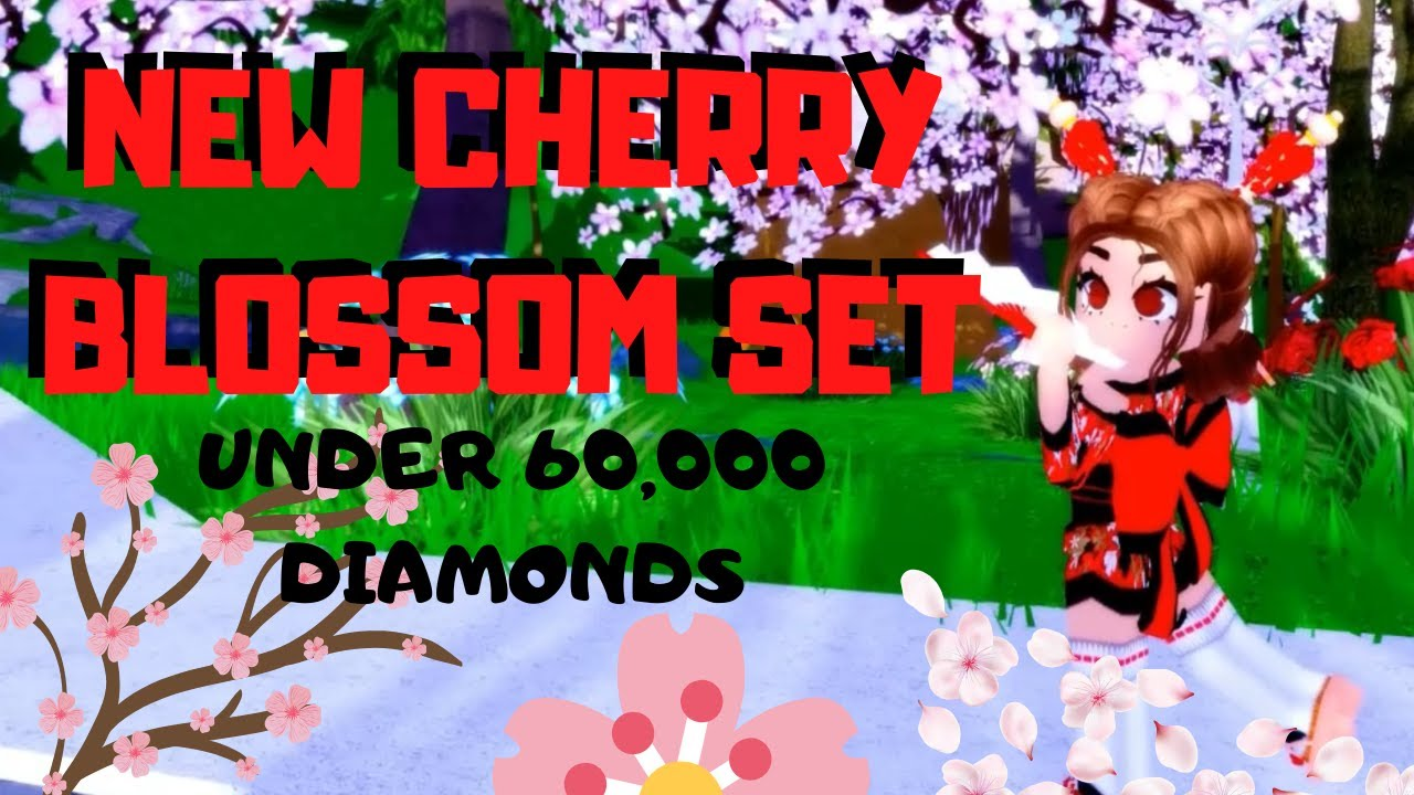 The New Cherry Blossom Set Is The Cutest Thing Ever Roblox Royale High Youtube