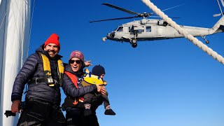 BUZZED by a Navy Seahawk Chopper Rounding Cape Hatteras - Sailing Vessel Delos Ep. 316