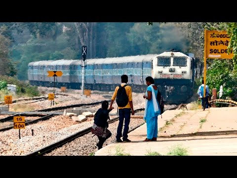Crazy GIRL Challenges the Train (Incomplete) : Indian Railways