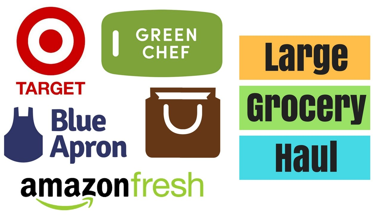 Blue apron green chef - Large Grocery Haul Amazon Fresh Blue Apron Green Chef And More