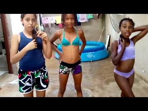 Desafio da piscina com as amigas e as primas💕❤️😍