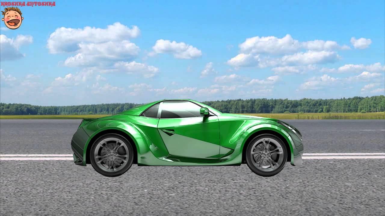 Машинки. Зеленая гоночная машина. МУЛЬТИК-Конструктор для ...