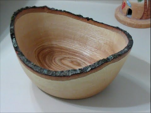 #22 Bowls from Logs Part 4 Finishing Natural Edged Oak Bowl