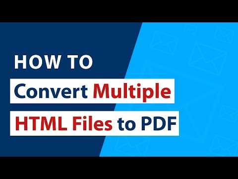 How To Convert Multiple HTML Files To PDF Adobe Documents ?