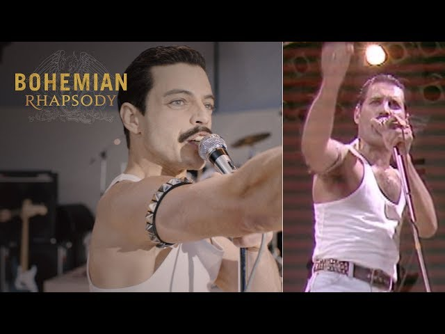 "Bohemian Rhapsody | Live Aid Side by Side: ""We Will Rock You""  