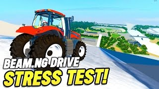 BeamNG Drive Crashes : Tractor vs Mega Ramps!