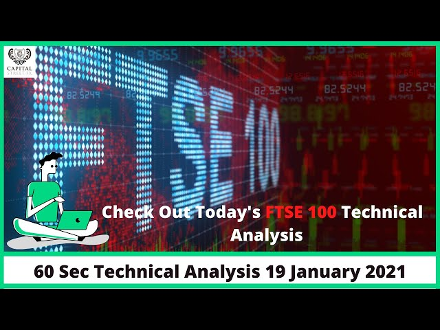 60 Seconds FTSE 100 Technical Analysis | Change Your Strategy | Capital Street FX | 19 Jan 2021