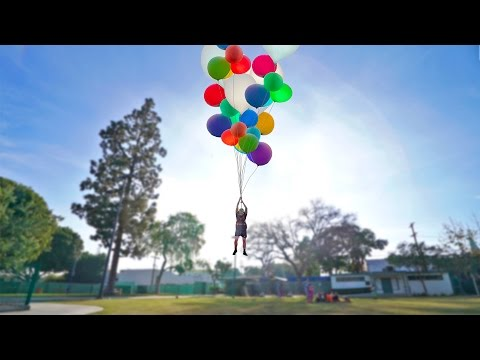 Thumbnail: FLYING WITH GIANT HELIUM BALLOONS (INSANE)
