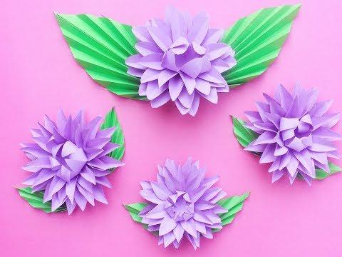DIY Paper Dahlia Tutorial - l My Wedding Backdrop Flowers l