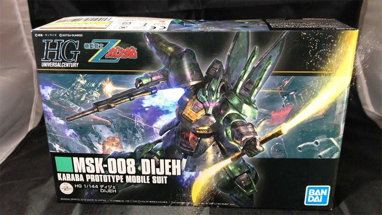 "Bandai Bobby HGUC 1//144 Dijeh /""Zeta Gundam/"" Model Kit"