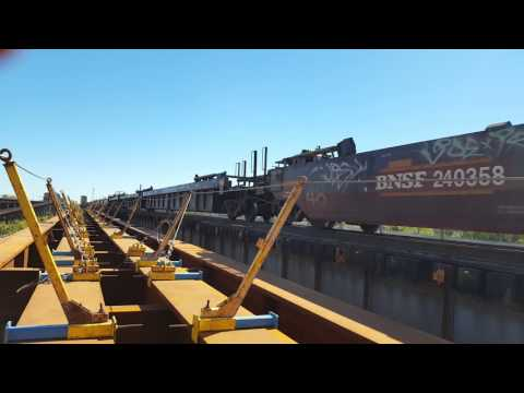 Rebuilding the BNSF railroad bridge Crossing the Mississippi River Arkansas to Tennessee