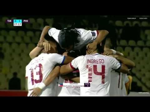 Philippines vs Tajikistan - Philip James Younghusband (Goal 1)