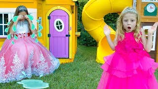 Download Nastya and Stacy pretend play with a magic playhouse Mp3 and Videos