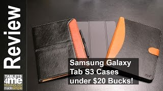 3 Cases under 20 bucks for the Samsung Galaxy Tab S3