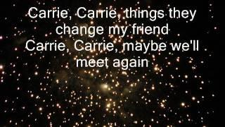 Carrie - Europe. ( Lyrics on screen )