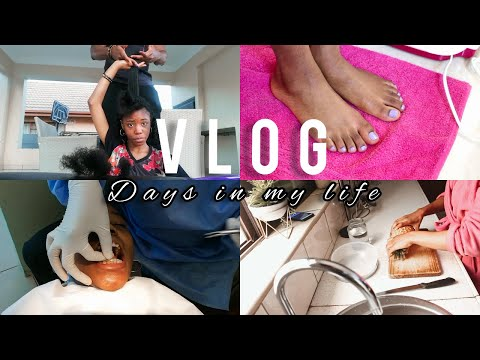 VLOG #4: Boyfriend Trims Hair, Dentist, Foot Spa,meal Prep