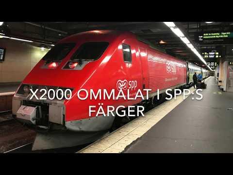 X2000 ommålat i SPP:s färger