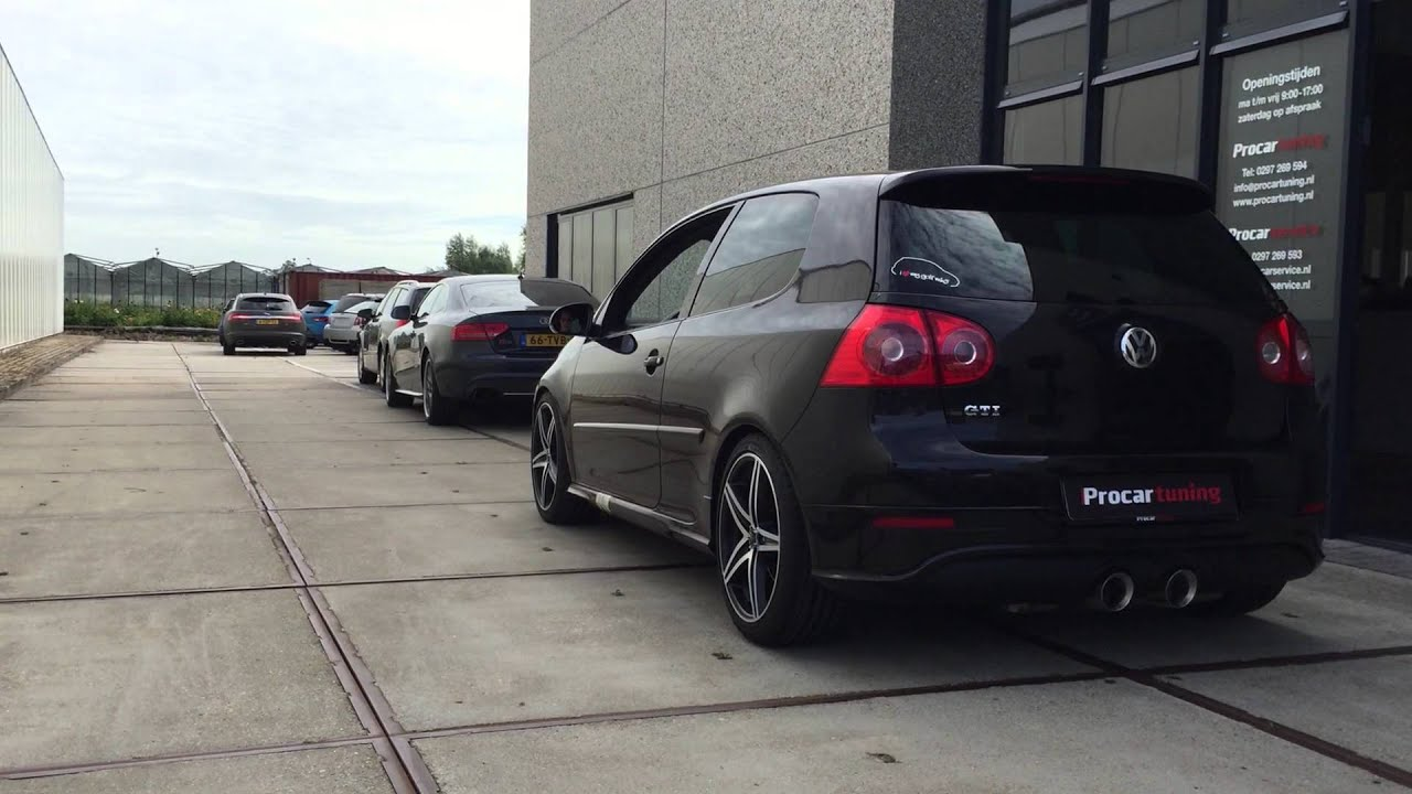 vw golf 5 v gti milltek r32 style non resonated uitlaat exhaust youtube. Black Bedroom Furniture Sets. Home Design Ideas
