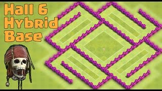 Town hall 6 (TH6) Hybrid/Defense Base 2015
